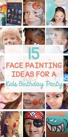 15 Face Painting Kids Birthday Party Ideas on is part of Kids Crafts Paint Birthday Parties - Get ready to celebrate with these 15 Face Painting Kids Birthday Party ideas that are simple enough for beginners Ideas for a shark, ice cream, cat & more! Diy Face Paint, Body Paint, Diy For Kids, Crafts For Kids, Diy Crafts, Lila Party, Drawing Videos For Kids, Face Painting Designs, Painting For Kids