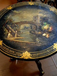Spring Has Arrived Antique Furniture, Painted Furniture, Painting Patterns, Old World, 18th Century, Trays, Folk Art, Exotic, Chinese