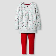Toddler Girls' Top & Bottom Set Dot - Cat & Jack™ : Target $11.99