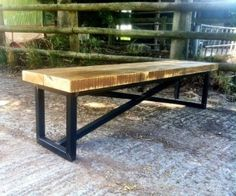 Reclaimed & Bespoke Industrial Style Furniture | Industrial Mill Bench Long Bench | Made by Hands of Britain