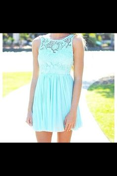 Light blue dress <3