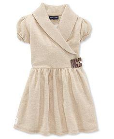Ralph Lauren Girls Dress, Little Girls Fleece Dress - Kids Girls 2-6X - Macy's
