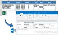 Exportar de Excel tareas a Outlook