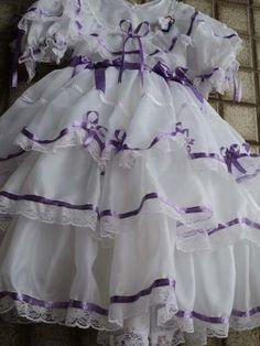 Vestido Festa Junina Noiva Boutique* São João* 0 À 6 Anos. Veja mais na Loja!