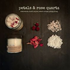 Paraffin Candles, Soy Candles, Candle Jars, Thing 1, Aromatherapy Candles, Glass Containers, Burning Candle, Wax Melts, Rose Petals