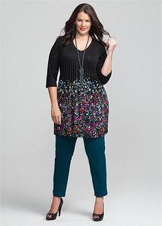 #Virtu Meridian Jeans #teal #plussize #curvy