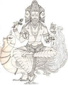 Shiva Art, Ganesha Art, Krishna Art, Hindu Art, Ganesha Tattoo, Brahma Hindu, Hindu Deities, Hindu Tattoos, Arm Tattoos