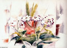 Cineraria, 1923 - Demuth cross stitch pattern by Cross Stitch Collectibles Charles Demuth, Reproduction, Large Prints, Cross Stitch Patterns, Print Patterns, Bouquet, Watercolor, Artwork, Artist