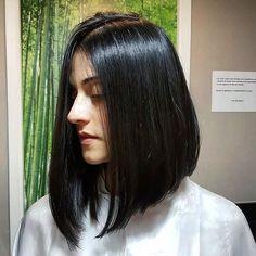 ideas haircut straight stylists for 2019 Black Hair Haircuts, Haircuts Straight Hair, Long Bob Hairstyles, Bride Hairstyles, Medium Hair Cuts, Short Hair Cuts, Medium Hair Styles, Curly Hair Styles, Long Hair Highlights