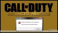 Call of Duty Advanced Warfare DirectX Encountered an Unrecoverable Error Fix...
