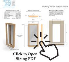 Secret Mirror Door - Buy Now - Secure & Hidden Mirror Closet Doors, Room Doors, Mirror Door, Hidden Door Bookcase, Hidden Hinges, Secret Space, Secret Rooms, Safe Room, Hidden Rooms