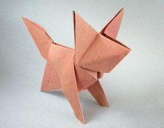 Un renard en origami,mais pour quel niveau ? Du tout simple pour les débutants…