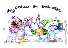 build on little ones...This is my aunts darling artwork.
