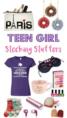 22 Fun Stocking Stuffers for Teenage Girls! So many fun and unique gifts your teens will LOVE! Diy Gifts For Girls, Stocking Stuffers For Teenage Girls, Teenager Stocking Stuffers, Best Stocking Stuffers, Birthday Gifts For Teens, Teenage Girl Gifts, Crafts For Girls, Birthday Ideas, Tween Girls