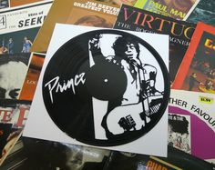 Prince Vinyl Record Art Wall Hanging Old Vinyl Records - New Unique Art - NZ Made