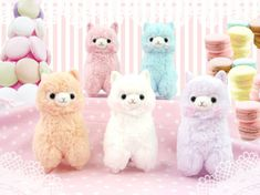 alpacas=love. I want the orange and purple ones. And white and blue and pink!!