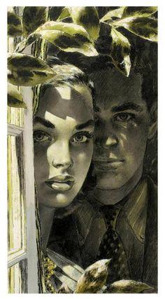 Illustration by Edwin Georgi Retro Kunst, Retro Art, Art Pop, Art And Illustration, Vintage Illustrations, Fantasy Kunst, Fantasy Art, Girl Artist, Vintage Artwork