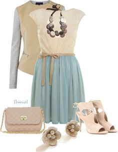 """""""Transitioning into Spring"""" by flossmint on Polyvore"""
