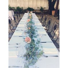 "FAVE! @Cindy Kendall-Myers fitzgerald :: lovely little details ::'s photo: ""simple blooms and eucalyptus garlands"