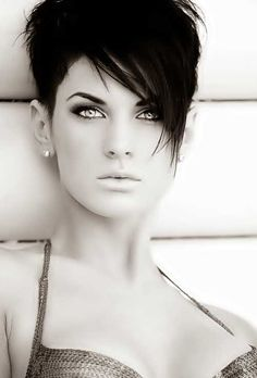 Image result for asymmetrical pixie cut