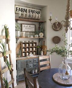 Farmhouse Dining Room @desertdecor