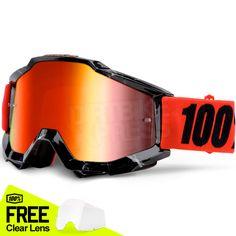 100% Accuri Goggles - Inferno Mirror Lens