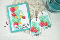 Strawberry Patch revisited, Using a background stamp