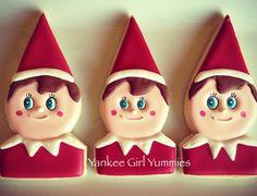 Elf on the Shelf Cookies~                       By Yankee Girl Yummies, red