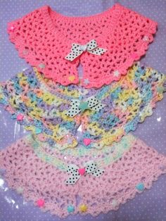 adorable fairy kei crocheted capelets