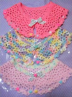 adorable fairy kei crocheted capelets