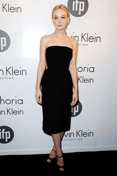 Cannes Film Festival 2013 | IFP and Calvin Klein Collection Women in Film party - May 16 2013  Carey Mulligan was dressed by Calvin Klein Collection in a strapless black dress with peplum detailing.