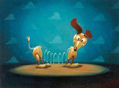 Tia W. Kratter con diseño de Ralph Eggleston, Slinky (Toy Story, 1995), acrílico. © Disney/Pixar. Pixar. 25 años de animación