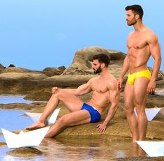 Gorgeous young hunks on the beach. From http://www.homotrophy.com/category/fresh/