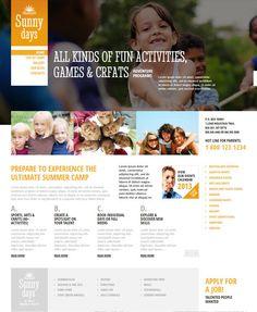 Summer Camp Responsive WordPress Template 46732 on Behance