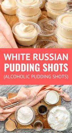 Vanilla Pudding Shots, Pudding Shot Recipes, Jello Pudding Shots, Jello Shot Recipes, Alcohol Drink Recipes, Jello Shots, Party Shots Alcohol, Vanilla Vodka Recipes, Candy Shots