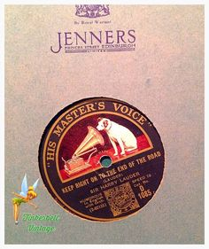 """His Master's Voice"""" Vintage: 78 RPM Record, Keep Right on to the End of the Road. 1930's Vintage Collectible. Christmas. by TinkerbellVintage on Etsy https://www.etsy.com/uk/listing/485032918/his-masters-voice-vintage-78-rpm-record"""