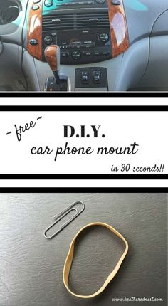 THIS IS SO GREAT!! DIY car phone mount life hack from www.heatherednest.com