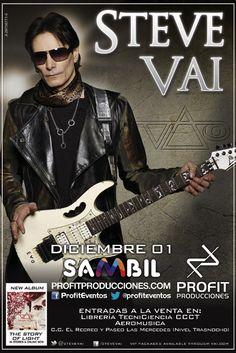 Publicidad del show de Steve Vai en Caracas (1/12/2013)
