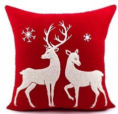 Cotton Canvas Wool Embroidered Christmas Series Santa Snowflake Vintage Decorative Throw Pillow Pillowcase Cushions Home Decor Christmas Cushions, Christmas Pillow, Christmas Cushion Covers, Throw Cushions, Throw Pillow Cases, Sofa Throw, Cushion Pillow, Lumbar Pillow, Christmas Sewing