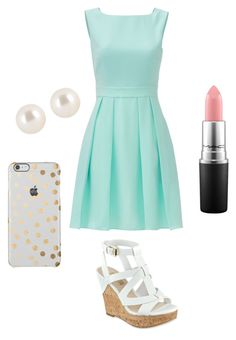 """""""Cute day out!!!❤️"""" by kaykb on Polyvore featuring Kate Spade, Henri Bendel, GUESS and MAC Cosmetics"""