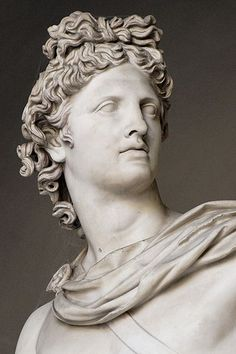 Detail - Apollo Belvedere ancient Roman sculpture in the Vatican. Roman Sculpture, Sculpture Art, Sculptures, Greek And Roman Mythology, Greek Gods, Apollo Belvedere, Carpeaux, Greek Statues, Greek Culture