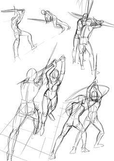 Wonderful Learn To Draw People The Female Body Ideas. Mesmerizing Learn To Draw People The Female Body Ideas. Action Pose Reference, Figure Drawing Reference, Drawing Reference Poses, Sword Reference, Action Poses, Anatomy Reference, Anatomy Sketches, Body Sketches, Art Sketches