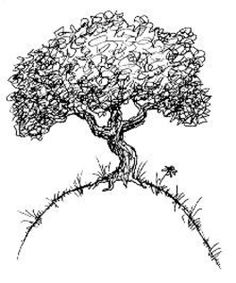 Tree With Roots image - vector clip art online, royalty free & public domain