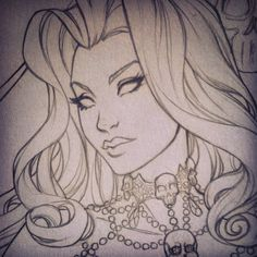 Here is a sneak peak of a new lady death cover