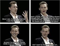 Tom Hiddleston Being blonde just got amazing :3