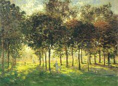 Claude Monet -ThePromenadeat Argenteuil, Soleil Couchant (1874)