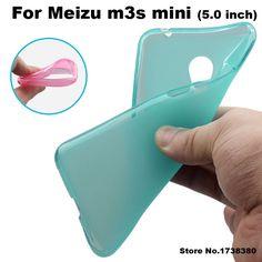 Meizu m3s mini Case Cover 4 Colors Matte TPU Soft Back Cover Phone Case For Meizu m3s Mini Back Cover Case (5.0 inch)