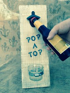 Bottle cap opener sign with mason jar, awesome DIY Gift [ PropFunds.com ] #gifts #funds #investment