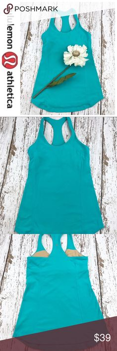 💕SALE💕Lululemon Teal Razorback Yoga Top Fabulous 💕Lululemon Teal Razorback Yoga Top lululemon athletica Tops