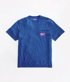 Shop Short-Sleeve Neon Heather Pocket T-Shirt at vineyard vines